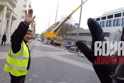 Video: Did We Just Become Best Friends? Yup! How To Treat A A Guy Who Regulates The Traffic.