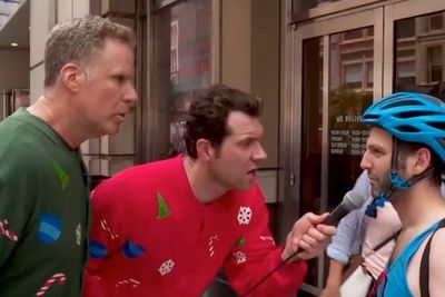 Video: Watch Will Ferrell And Billy Eichner Yell At People About Christmas Spirit