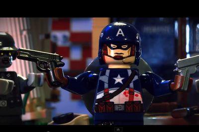 Video: Lego Captain America Kicking Nazi Zombie's Butts!