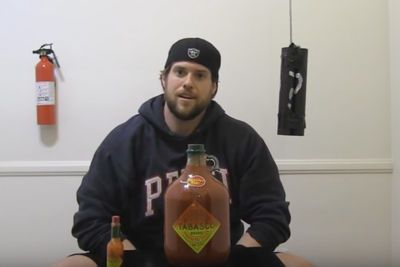 Video: Guy Attempts To Drink A Gallon Of Tabasco Sauce... Dumbest Idea Ever!