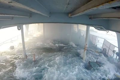 Video: Mexican Navy Sinks An Old Gunship Covered In Go Pro Cameras, To Create A New Artificial Reef.