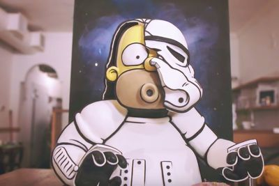 Video: Homer Simpson Joins The Galactic Empire Of Cake. Kylie Cooks Up The Most Delicious Art Piece This Side Of A Galaxy Far, Far Away'