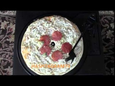 Video: What A Pizza Sounds Like On A Record Player