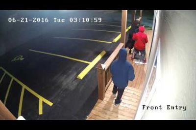Video: Four Guys, One In A Wig, Attempt To Break Into A Gun Shop And Fail Miserably.