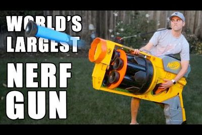 Video: Former Nasa Engineer Helped Create The World's Largest Nerf Gun Which Shoots Massive Darts