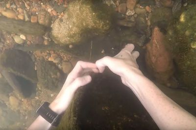 Video: This Lucky Guy Found3 Gopros, Iphone A Gun And Knives Underwater In A River!