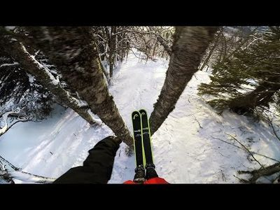 Video: Jesper Tj`der Builds His Own Ski-forest That Looks Like Narnia