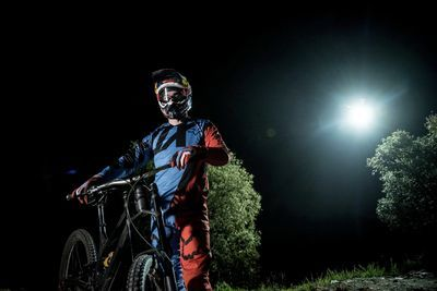 Video: Mountain Biking At Night With Only A Drone As The Light... Wait What?