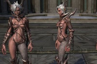 Video: Female Armour Only Covers The... Shiny Bits