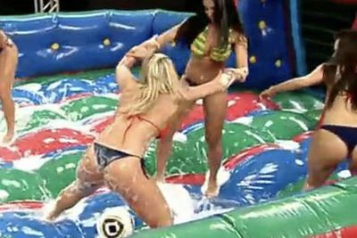 Video: Soap + Football + Girls In Bikinis = Tv Magic!
