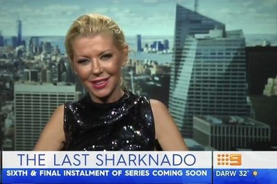 Video: Sharknado 6 – Tara Reid's Drunk Interview