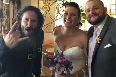 Keanu Reeves Crashes Wedding