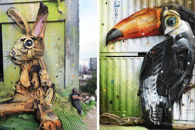 Street Artist Turns Rubbish into Street Art – Meet Bordalo II