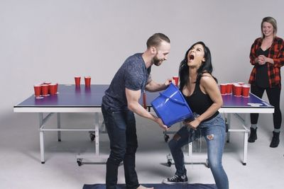 Couples Play Fear Pong!