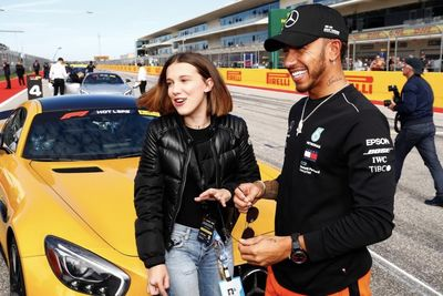 Millie Bobby Brown Hits the Track with Lewis Hamilton