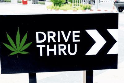 People Buying Weed At Marijuana Drive-Thru In Vegas | Jimmy Kimmel