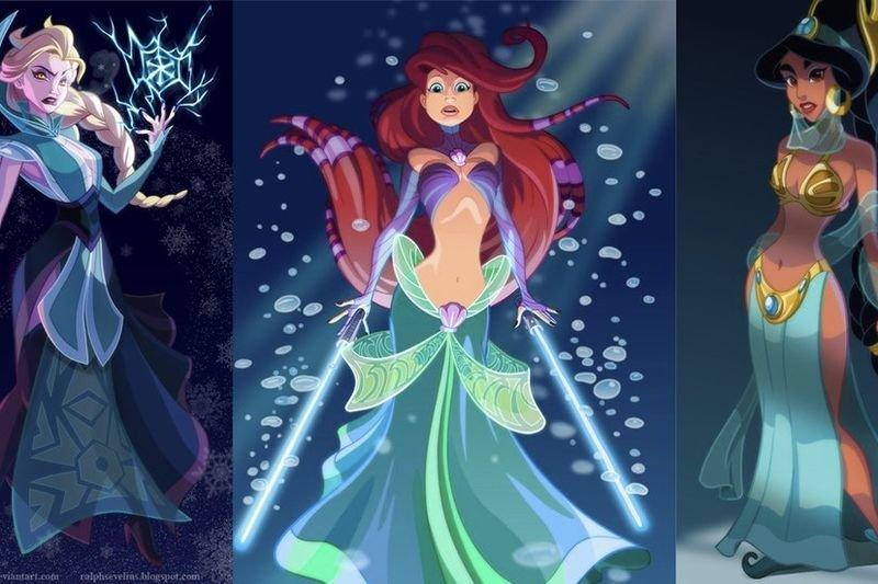 Disney Princesses Re-imagined As Star Wars Characters 1
