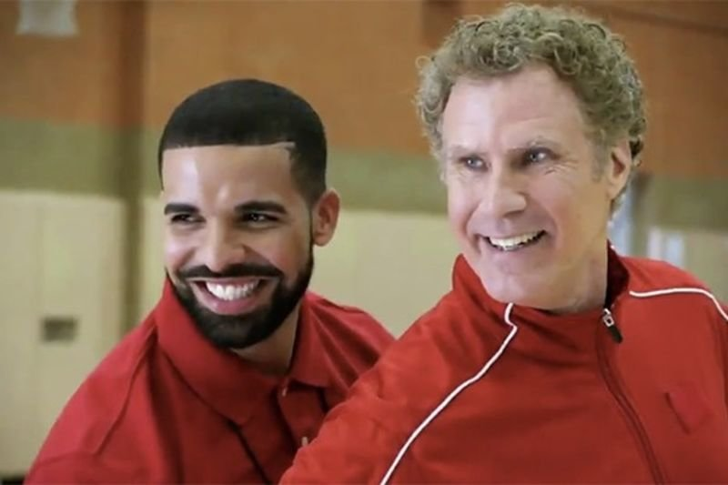 Video: Drake And Will Ferrell Show Off Handshakes And Roast Derozan!! 1