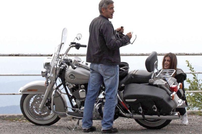 George Clooney Injured In Motorbike Crash 1