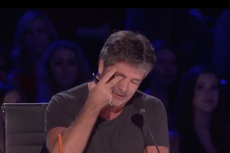 Simon Cowell Cries on Live TV | Americas Got Talent 1